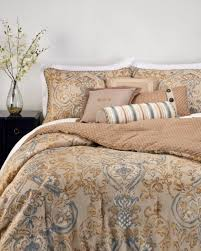 waterford harrison king pillow sham taupe blue bronze mustard cording zipper