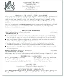 Template For Resume 2018 Beauteous Pediatric Special Care Resume Early Childhood Education Resume
