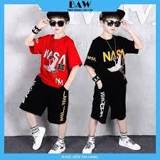 Set Đồ Bé Trai phong cách hàn quốc, thời trang trẻ em thương hiệu BAW mã  60-61 | Áo bé trai khác