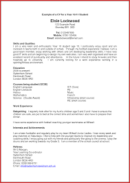 Inspirational A Good Cv Example For A Student Job Latter