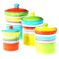 colored cream canister set lovello 3 piece glass canisters kitchen large size of with wood lids