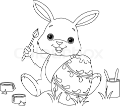 Below the main image you will find links to bible and christian printable sheets also. Coloring Page Of Easter Bunny Colors Stock Vector Colourbox