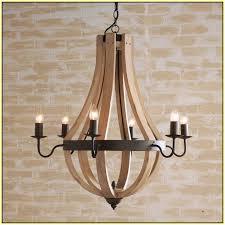 wooden wine barrel chandelier