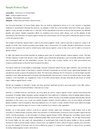 sample position paper violence against women human rights