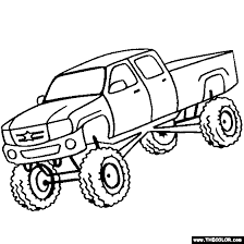 Monster Kid Truck Coloring Pages Free Printable Coloring Pages For