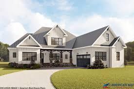 modern farmhouse house plan 6849 00044 elevation photo