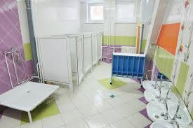 preschool bathroom design. Bathroom In A Kindergarten \u2014 Stock Photo Preschool Design