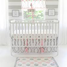 pink gray crib set olivia rose crib collection