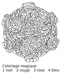 Coloriage Magique Difficile Hugo Lescargot L L L L L