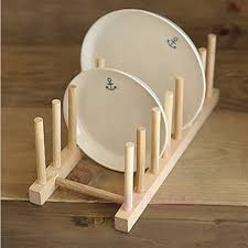 Wooden Display Stands For Plates New Wooden Drainer Plate Stand Wood Dish Rack 100 Pots Cups Display 33