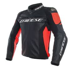 racing 3 leather jacket black black fluo red leather