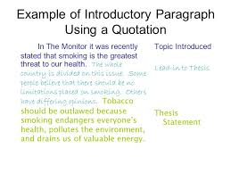 writing an introductory paragraph ppt video online  11 example