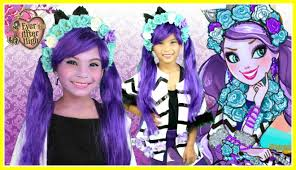 kitty cheshire ever after high makeup tutorial and diy costume tutorial you