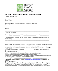 donation receipt forms sample donation receipt form 8 free documents in pdf