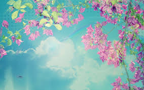 Spring Powerpoint Background Clouds Flowers Spring Backgrounds For Powerpoint Nature