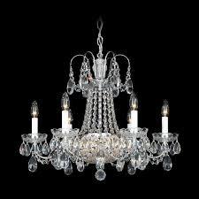 schonbek la belle 12 light crystal chandelier