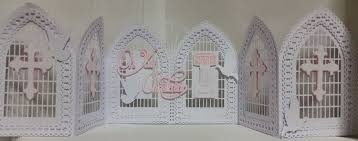 tri fold windows christening baptism communion confirmation etc windows doors tri fold gatefold card template with box doves trellis etc fcm scan n cut format