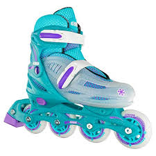 Roller Derby Boy S Tracer Adjustable Inline Skate Size Chart Crazy Skates Adjustable Inline Skates For Girls Beginner Kids Rollerblades Teal With Purple Small Sizes J11 1