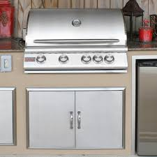 Outdoor Kitchen Gas Grill Blaze 32 Inch 4 Burner Built In Gas Grill With Rear Infrared