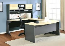 japanese office furniture. Awesome U Shape Grey Wooden Office Computer Desk With Cream Table Top And F Shelves Plus Japanese Furniture