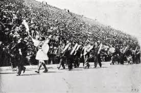 「1896 – In Athens, the opening of the first modern Olympic Games is celebrated, 1,500 years after the original games are banned by Roman emperor Theodosius I.」の画像検索結果
