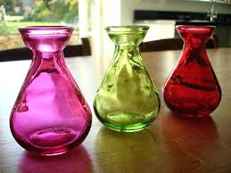 colored bud vases coloured recycled glass set of 3 1 natural simplicity multi