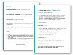 free personal employment history personal trainer resume tips free professional cv template