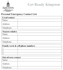 Pet Sitter Information Form Emergency Contact Information Sheet Template