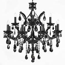 black chandeliers jet black chandelier crystal lighting 30x28 canada
