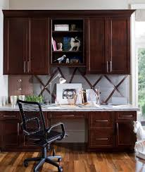 Kitchen Office Cabinets Waypoint Living Spaces Style 630f In Cherry Java Office