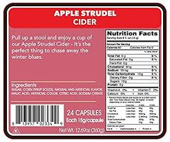 amazon double donut apple strudel apple cider single serve cups for keurig k cup brewers 24 count grocery gourmet food