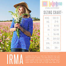Xl Irma Size Chart Details About Lularoe Mystery Irma Sizes Xxs 3xl Free Us S H Prints Solids Unicorns