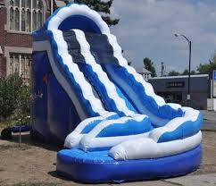 curved slide alabama inflatable water slide rentals