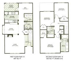 modern three bedroom house plans modern town house two story house plans three bedrooms 5 bedroom