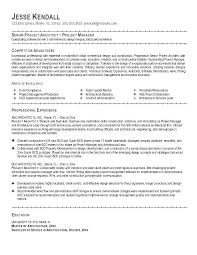 Architectural Project Manager Resume Best Project Manager Resume ...