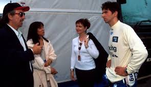 George and Olivia Harrison with Damon Hill and his wife Susan George  (Georgie) at the British Grand Prix (199… | Beatles george harrison,  Beatles love, Liverpudlian