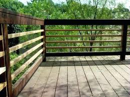 horizontal deck railing building a ideas diy