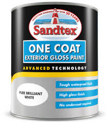 one coat exterior gloss paint. one coat gloss exterior paint .