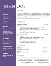 Resume Sample Doc Fascinating Sample Resume Template Doc Resume Sample Doc Download Best Sample