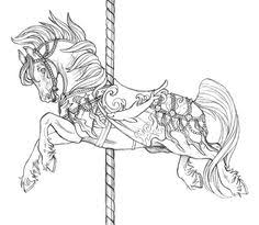 Small Picture Carousel Horse Clip Art Clip Art of a Coloring Page of a