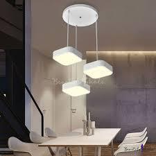 3 lights square led pendant ceiling