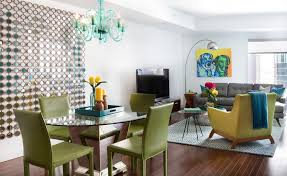 green dining room furniture. Residence With Green Leather Furniture And Round Glass Dining Table Room N