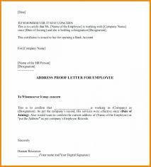 Proof Of Residency Letter From Family Member Sample Certification