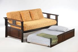 agreeable trundle bed sets dark wood trundle bed frame with decorative bedding