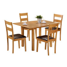 image of simple extendable dining table set