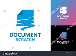 Design Logo From Scratch Document Scratch Logo Template Design Stock Vector Royalty