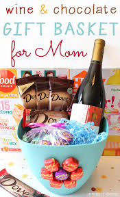 dove dark chocolate and wine relaxing mother s day gift basket 2