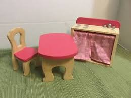 wooden barbie doll furniture. Image Is Loading Kidkraft-Wooden-Barbie-Doll-Furniture-Kitchen-Sink-Stove- Wooden Barbie Doll Furniture