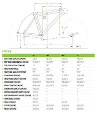 Cannondale Size Chart Height Foray 2 Cannondale Bicycles