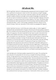 about me essay example com about me essay example 7 writing an essay all about me orange county